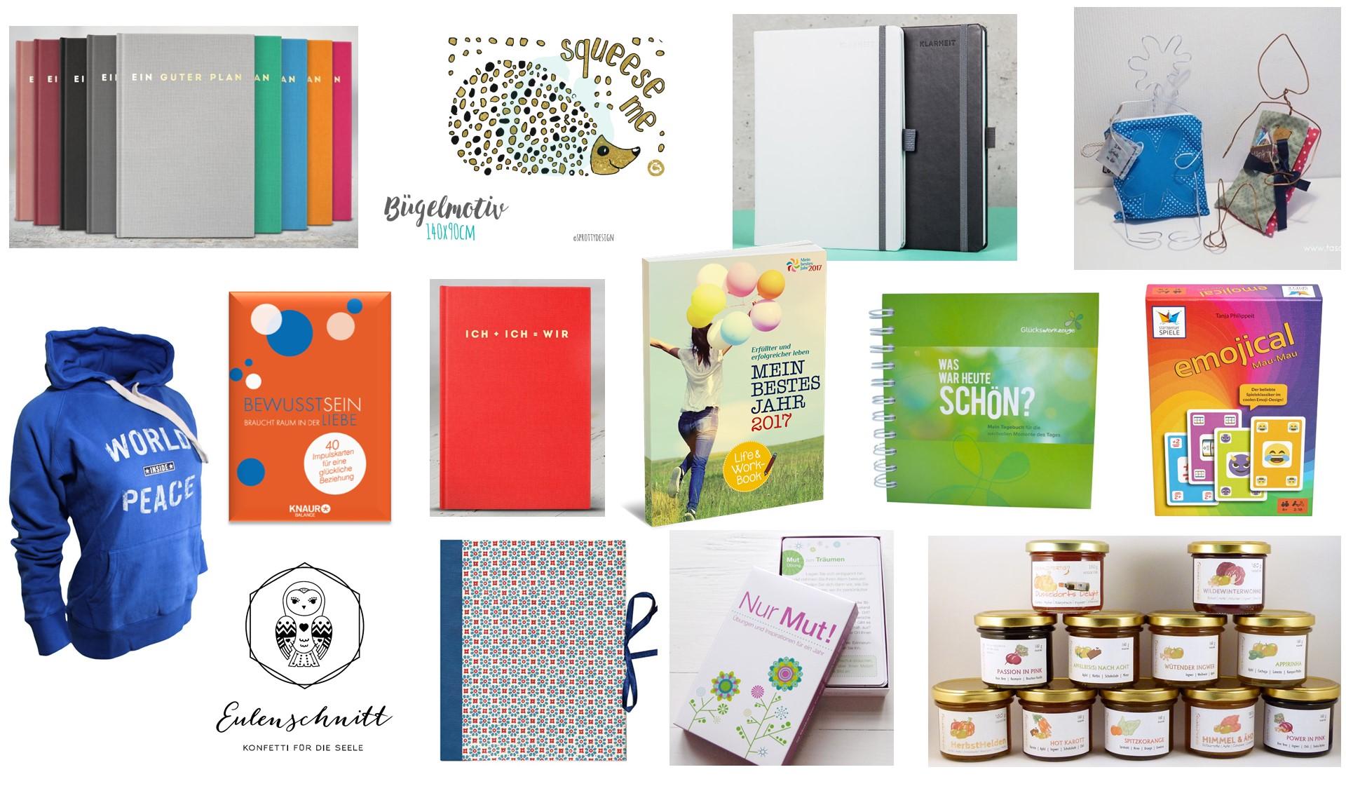 Weihnachtsgeschenke 2016/17. Produkte, die mit viel Liebe entstanden ...